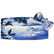 Dolphin Cummerbund and Bow Tie Set