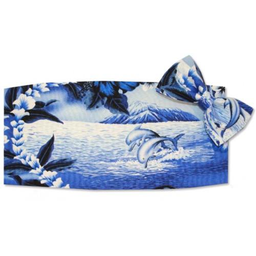 Dolphin Cummerbund and Bow Tie Set