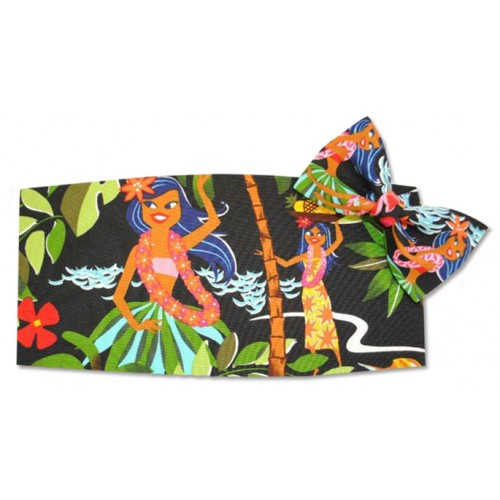 Hawaiin Hula Cummerbund and Bow Tie