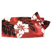 Hawaiin Hibiscus Cummerbund and Tie Set