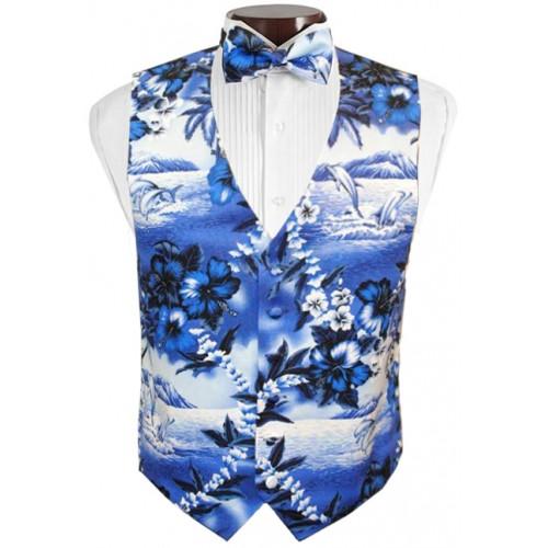 Dolphin Tuxedo Vest and Bow Tie Set