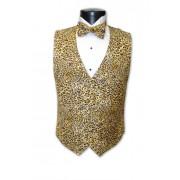 Leopard Vest and Bow Tie Set