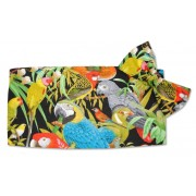 Jungle Birds Cummerbund and Tie Set