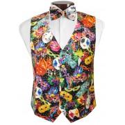 Bal Masque Mardi Gras Vest and Bow Tie