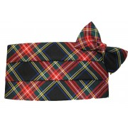 Christmas Tartan Plaid Cummerbund and Tie