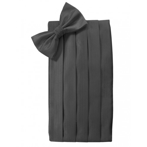 Faille Silk Cummerbund And Bow Tie Set