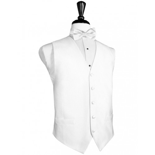 Faille Silk Vest and Tie Set