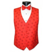 Mickey Mouse Red Silhouette Vest and Bow Tie