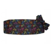 Mardi Gras Tapestry Cummerbund and Bow Tie Set