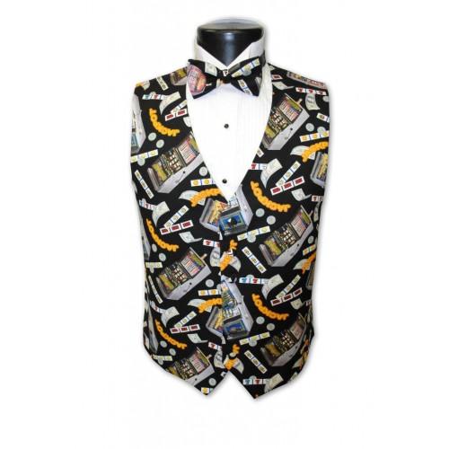 Las Vegas Slots Tuxedo Vest and Bow Tie Set