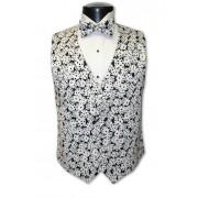 Las Vegas Black and White Dice Vest and Tie Set