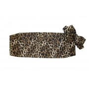 Brown Leopard Cummerbund and Bow Tie Set