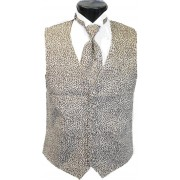 Jaguar Tuxedo Vest and Tie Set