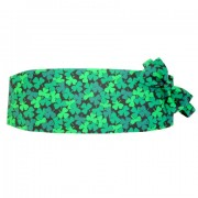 Emerald Shamrocks Cummerbund and Bow Tie
