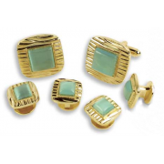Square Decorative Cuff Link Set