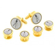 Golfer Cufflinks and Studs