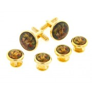 Horse Riding Scene Cufflinks and Studs