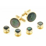 Tahitian Mother of Pearl Cufflinks and Studs