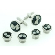 Two Dice Cufflinks and Studs