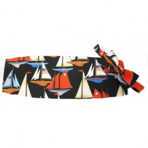 America's Cup Sailboats Cummerbund and Bow Tie Set