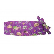 Bourbon Street Masks Mardi Gras Cummerbund and Bow Tie
