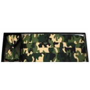 Jungle Camo Cummerbund and Bow Tie Set