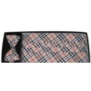London Plaid Cummerbund and Bow Tie Set