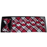Lumberjack Plaid Cummerbund and Bow Tie Set
