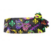 Mardi Gras Jacquard Masks and Fleur De Lis Cummerbund and Bow Tie