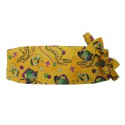 Mardi Gras Mad Hatter and Beads Cummerbund and Bow Tie