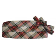 White Royal Stewart Holiday Tartan Plaid Cummerbund and Bow Tie