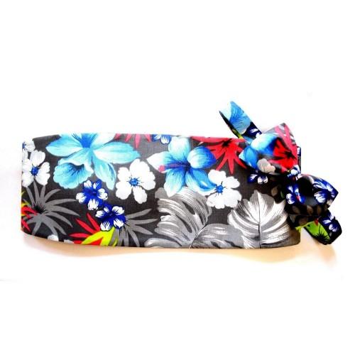 Aloha Hawaiian Floral Cummerbund and Bow Tie Set