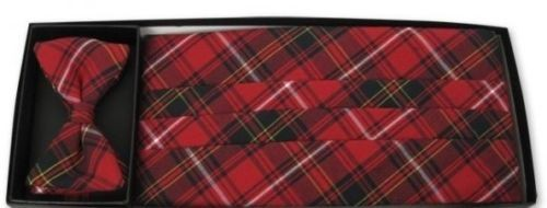 Bennington Plaid Cummerbund and Tie