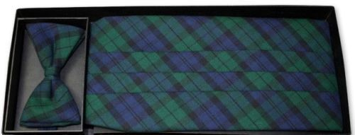 Black Watch Plaid Cummerbund and Tie