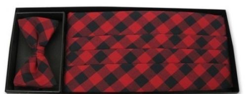 Country Plaid Cummerbund and Tie