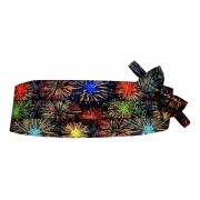 Fireworks Cummerbund and Bow Tie
