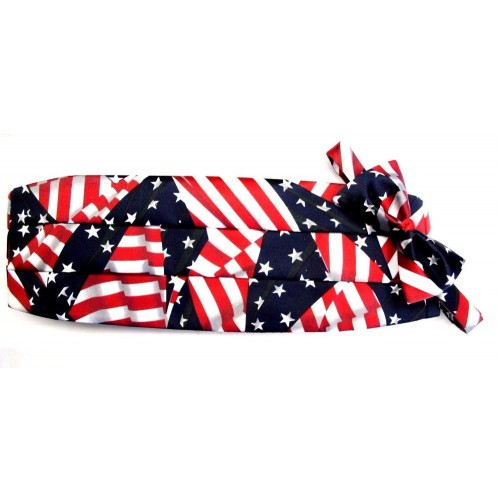 American Flag Cummerbund and Tie Set