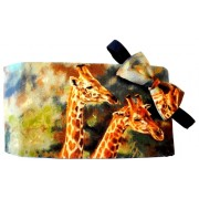 Giraffes on Safari Cummerbund and Tie Set