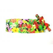 Hawaiian Floral Menagerie Cummerbund and Bow Tie Set