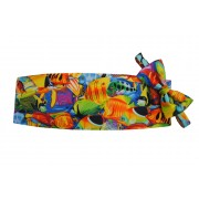 Hawaiian Tropical Salt Water Fish Cummerbund and Tie
