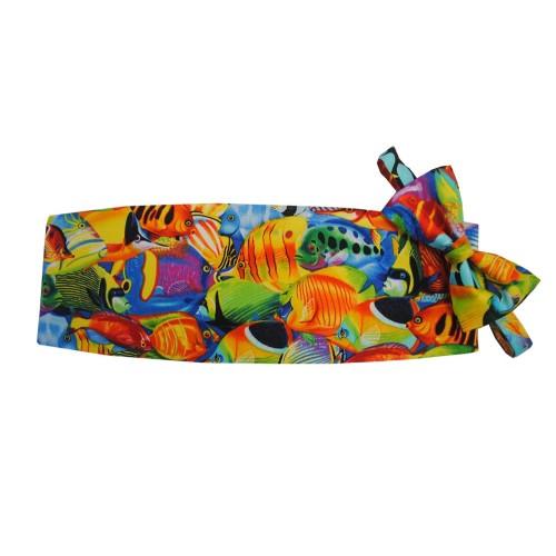 Hawaiian Tropical Salt Water Fish Cummerbund and Tie