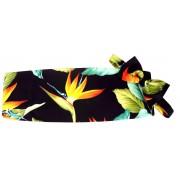 Hawaiian Bird of Paradise Cummerbund and Bow Tie Set