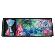 Tropical Ocean Cummerbund and Bow Tie Set