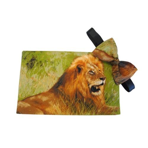 Lion on Safari Cummerbund and Tie Set