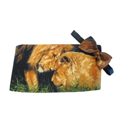 Lion's Den Safari Cummerbund and Tie Set
