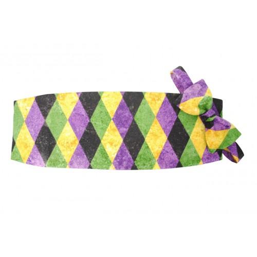 Mardi Gras Harlequin Cummerbund and Bow Tie Set