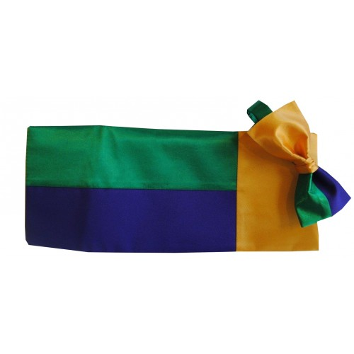 Mardi Gras Block Party Cummerbund and Bow Tie Set
