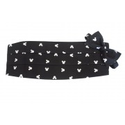 Mickey Black Silhouette Cummerbund and Tie