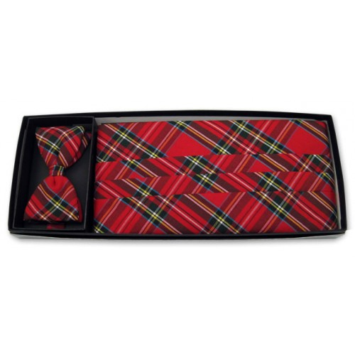 Christmas Holiday Real Plaid Cummerbund and Tie