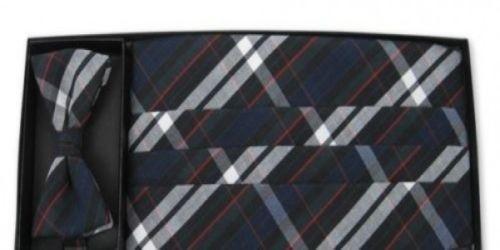 Regent Plaid Cummerbund and Bow Tie Set, all cotton